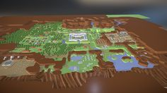 I recreated the Legend of Zelda, Link to the Past World Map in full 3D! It was really fun to reconceptualize the piel art into low-poly structures, and working on it made me feel really nostaligic for one of my favourite Zelda games of all time.  I tried to make it as accurate as it's SNES pixel origin, although I am sure there are some mistakes in there… either way I am quite happy with the result! I hope you enjoy!