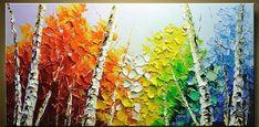 Birches, Gouache, Art Ideas, Paintings, Watercolor, Fall, Inspiration, Life, Dibujo