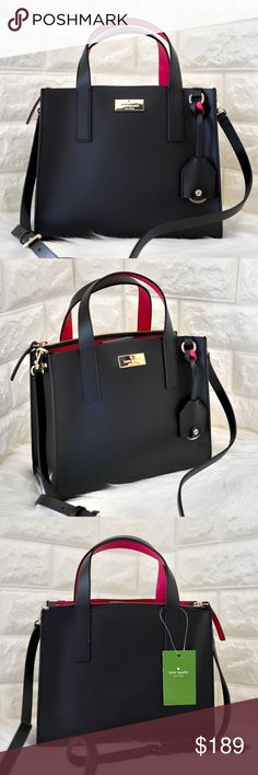 """c2b9a1f9db 💝Kate Spade Putnam Drive Anissa ⭐️BRAND NEW WITH TAG. Dual leather handles  with a drop of approx 3.9 inches  Adjustable strap  drop of approx 22.5"""" ..."""