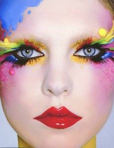 red lip colourful eye - Make-up for your alter ego - Illamasqua