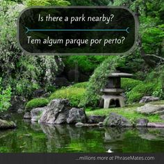 Enjoy your free time at a local park! You may get some great advice with this phrase.