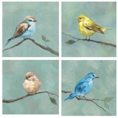 Bird Study (Set of Four)