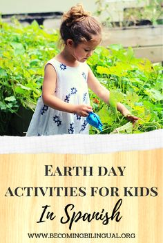 Check out these activities to raise awareness about Earth Day in Spanish! See how I use Dia de la Tierra to develop Spanish langauge skills and support bilingual thinking. #EarthDay #spanishforkids #spanishactivities