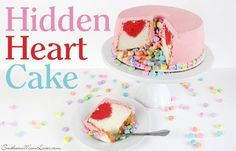 Welcome to Day 4 of ‪12 Days Of‬ Valentine's!   I can't wait to make this Hidden Heart Cake!