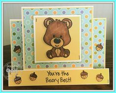 Ken's Kreations: BEAR CENTER STEP CARD - DESIGNED BY JENNIFER LAGING DT MEMBER