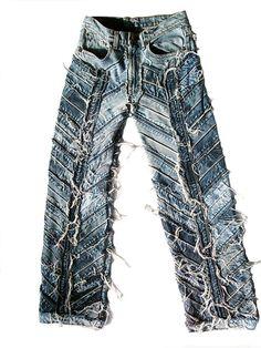 Hardcore Unique Handmade Rocker Jeans 30/32/34/36/38/40