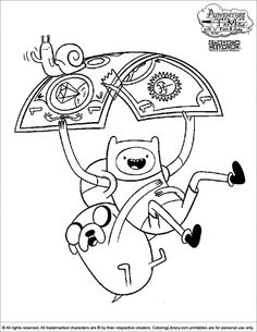 adventure time coloring pages free to print