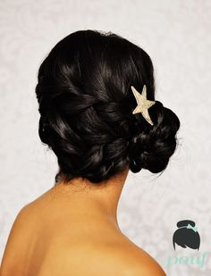 Pretty waterfall braid updo #updo #wedding hair