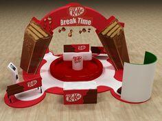Kitkat Activation Booth by Hossam Moustafa, via Behance
