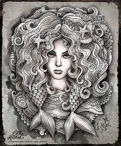 "Zodiac illustration ""PISCES"" on Behance"