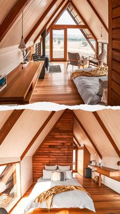 JR's Hut, Kimo Estate. Sustainable, off grid countryside experience A Frame Cabin Plans, Casas Containers, Cabin Homes, House In The Woods, House Rooms, My Dream Home, Building A House, Architecture, New Homes