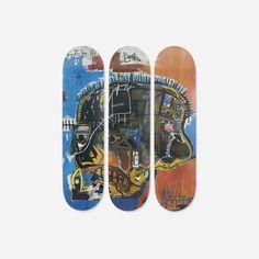 153: Jean-Michel Basquiat / skateboard decks, set of three < Mass Modern: Day 1, 10 July 2015 < Auctions | Wright