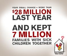 The impact of dropping your pennies, nickels and dimes at RMHC.