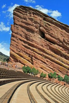 Historic Red Rocks Amphitheater near Denver, #Colorado  I used to good here a lot it is a very cool place.