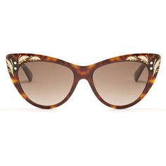 Gucci Cat-eye sunglasses ($318) ❤ liked on Polyvore featuring accessories, eyewear, sunglasses, gucci, metallic sunglasses, gucci sunglasses, cat-eye glasses, tortoise shell cat eye sunglasses and tortoise shell glasses