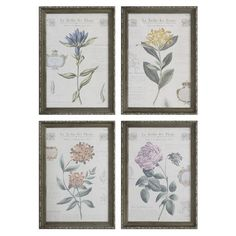 Showcasing a French floral motif, this framed art print brings gallery-worthy style to any room.