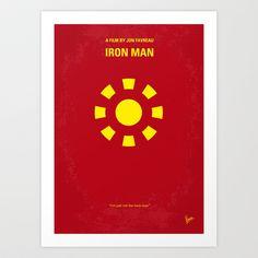 My Iron man minimal movie poster Art Print by Chungkong - $18.00