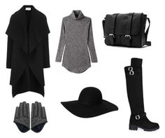 """""""Black Hat City Witch"""" by shiki-sakurai ❤ liked on Polyvore featuring Harris Wharf London and Monki"""