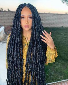 Black Girl Braided Hairstyles, Faux Locs Hairstyles, Black Girl Braids, Baddie Hairstyles, Girls Braids, Twist Hairstyles, Black Women Hairstyles, Cute Hairstyles, Protective Hairstyles