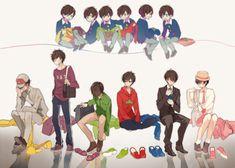 Find images and videos about osomatsu san, ichimatsu and karamatsu on We Heart It - the app to get lost in what you love. Sans Sad, Anime Guys, Manga Anime, Anime Siblings, Osomatsu San Doujinshi, Gekkan Shoujo Nozaki Kun, Ichimatsu, Homestuck, Anime Comics