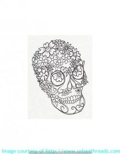 Skull Stickerei, Gothik Design- such dir dazu dein Lieblingsprodukt aus und wir sticken es auf. Z.B.  Taschen, Handtücher, Shirts oder Hoddies