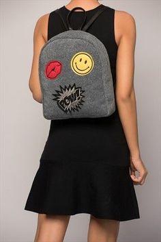 Gray Felt Women's Backpack Felt Diy, Handmade Felt, Handmade Bags, Felt Shoes, Embroidery Bags, Felted Slippers, String Bag, Unique Bags, Fashion Handbags