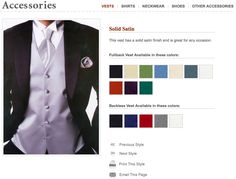 Wedding and prom vest color schemes include black, buttercup, cinnamon, gold, ivory, lavender, green, mint, navy, platinum, red, silver and white. Retro vest style. This vest line has a modern paisley design. This fullback vest looks great even when you remove the jacket. #vest, #tux, #wedding, #color, #tuxedovest, #tuxedojunction, #prom, #formal, #tuxedo