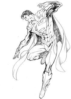 dcnu superman 07222011 by guinnessyde on DeviantArt Superman Drawing, Comic Drawing, Superman Tattoos, Wonder Woman Comic, Marvel Drawings, Unique Drawings, Superman Man Of Steel, Joker Art, Arte Horror