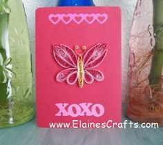 Quilled Valentine Butterfly Card