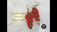 DIY Tutorial Pendientes Micro Macramé / Micro Macrame Earrings