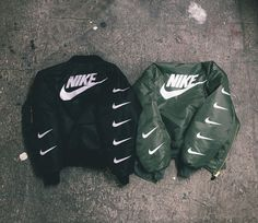 dont even like bombers, but shit - nike.
