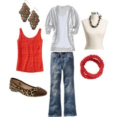 Fall Old Navy Look 2 with Orange Accents - All items can be purchased online through Old Navy.com.