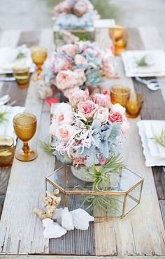 Party Hues: Rose Quartz and Serenity Color Palette for a Soft and Dreamy Tablescape