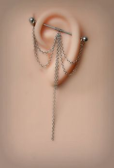 Industrial Barbell Industrial piercing  Jewelry by triballook