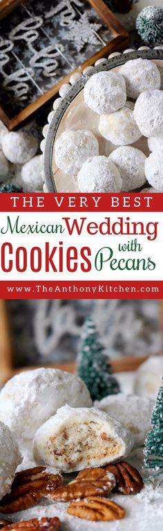 Christmas Cookie Recipe | A recipe for Mexican Wedding Cookies (also know as snowball cookies), a buttery, melt-in-your-mouth cookie rolled in powdered sugar | #Mexicanweddingcookie #chritmascookie #cookieexchange #holidaydessert