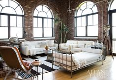 Big beautiful windows, bright light and neutral colors