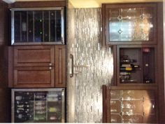 Sirgani wet bar - JRA Construction Cabinets and Appliances from Home Central