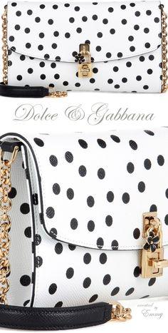 Emmy DE * Dolce & Gabbana Dolce Pochette leather clutch #polkadots
