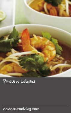 Make Thai restaurant-quality laksa at home with this quick and easy recipe - it's a creamy seafood soup with comfort food written all over it! Simply increase the quantity of the ingredients to serve more than Restaurant Soup Recipe, Thai Food Restaurant, Delicious Restaurant, Easy Prawn Recipes, Best Seafood Recipes, Easy Soup Recipes, Seafood Bake, Seafood Soup, Easy Soups To Make