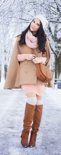 Cozy pastel winter outfit / MaryBellWorld | LBV♥✤ | KeepSmiling | BeStayElegant