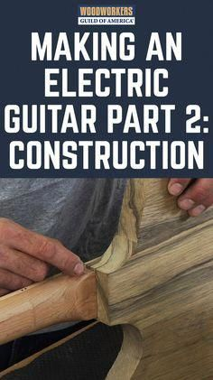 How To Make a Guitar - Part 2 of 3 Ginny's journey in guitar building continues as she moves forward with the electric guitar she's making for her boyfriend. Get caught up on her progress. Guitar Diy, Guitar Shop, Music Guitar, Guitar Chords, Playing Guitar, Acoustic Guitar, Guitar Books, Guitar Scales, Ukulele