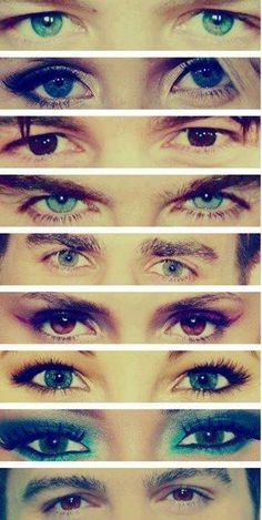 TVD cast eyes Can you guess which eyes goes to which person?I can!(: Klaus Rebekah  Elijah  Damon Stefan elana/catherine caroline bonie jeremy