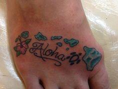 Hawaiian Islands Aloha tattoo - Lahaina, Maui