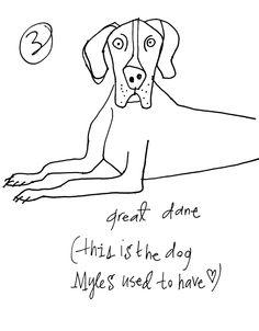 Great Dane  copyright Alanna Cavanagh 2013  #Dog illustration