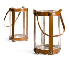 Lanterne Marstrand / H25 cm - Cuir Cuir marron - Skargaarden How To Make, Design, Conkers, Lantern, Leather, Design Comics