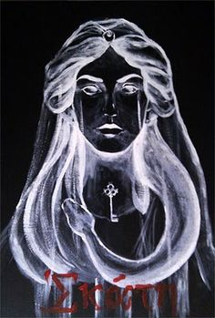 Hekate!    I love this image painted by Rosa Laguna