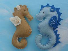 Felt seahorses