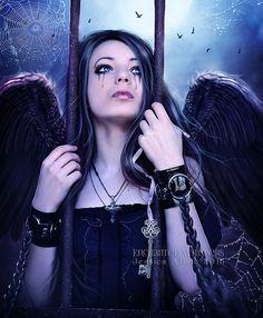 Angel art print,Angel portrait,crying Angel,sad Angel,Gothic Angel,dark Angel,Angel decor,Angel wall art,Fantasy angel,fantasy art