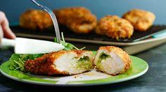 Garlicky Chicken Kiev with Herb Salad #Whatsfordinner