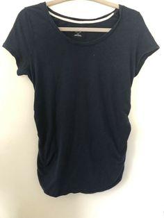 2d7d46d7ad364 Liz Lange Maternity Navy Blue Ruched Medium Tee Shirt #fashion #clothing  #shoes #